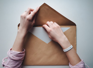 Sending a letter in big envelope
