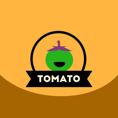 flat vector icon design collection tomato emblem