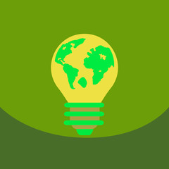 light save planet on ecology style lamp with map inside