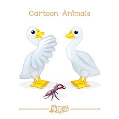 Toons series cartoon animals: goose & stag beetle