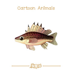 Toons series cartoon animals: ruff fish