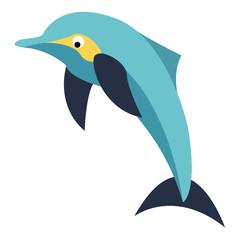 Dolphin vector flat design