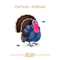Toons series cartoon animals: turkey & fly