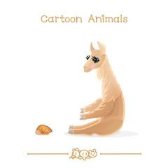 Toons series cartoon animals: llama & treehopper