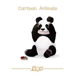 Toons series cartoon animals: Giant panda & goliathus