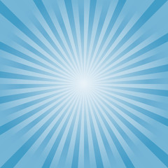 Abstract background. Soft Light Blue rays background. Vector