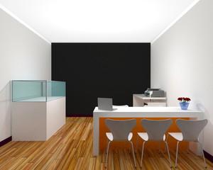 Sales office interior 3D Rendering
