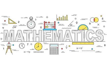 Mathematics line style illustration
