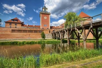 Medieval Gothic castle of the Prince-Bishop of Warmia in Lidzbark Warminski, Poland