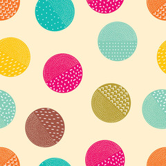 Geometric polka dot. Cute polka dot.  Seamless pattern can be used for wallpaper, pattern fills, web page background, surface textures.