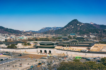 Gwanghwamun Square and the Blue House