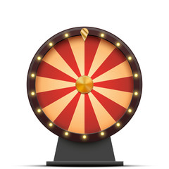 Vector colorful wheel of fortune, isolated on white