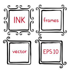 Hand painted ink frames
