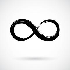 Infinity symbol grunge brush stroke
