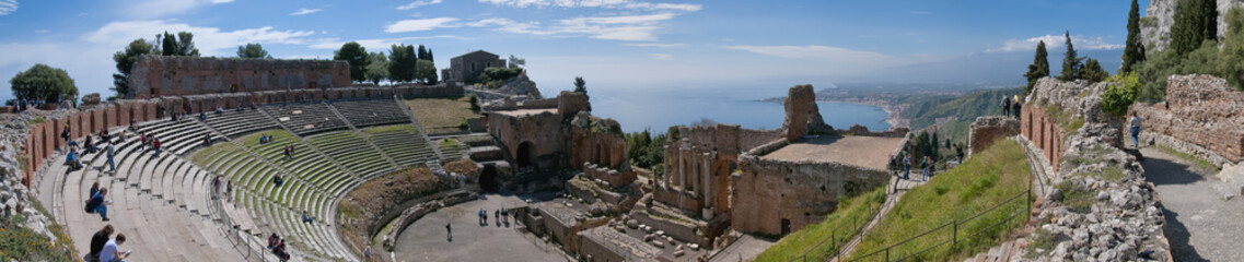 Teatro Greco, Taormina, Sizilien, Italien