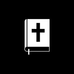 Holy bible book solid icon, religion & christianity, Religious sign, a filled pattern on a black background, eps 10.