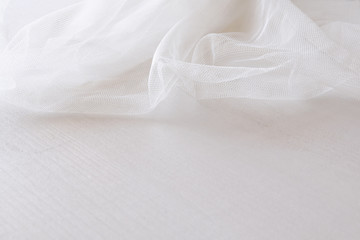 Background of white delicate lace fabric