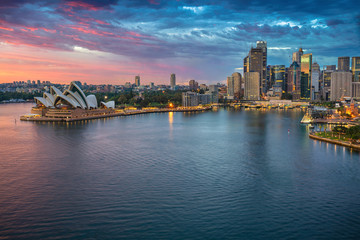 City of Sydney. Cityscape image of Sydney, Australia during sunrise.