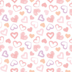 Love theme hearts valentine's day seamless pattern background