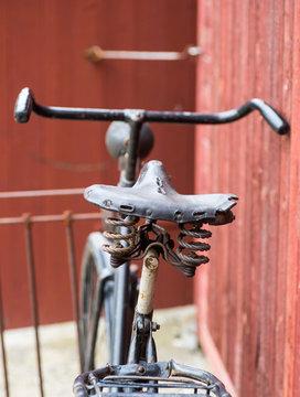 old antique black men's bicycle