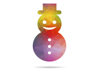 low poly snowman
