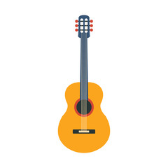 Acoustic Guitar, Part Of Musical Instruments Set Of Realistic Cartoon Vector Isolated Illustrations