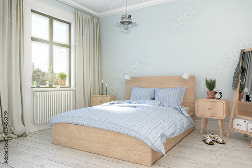 skandinavisches nordisches schlafzimmer stockfotos und. Black Bedroom Furniture Sets. Home Design Ideas