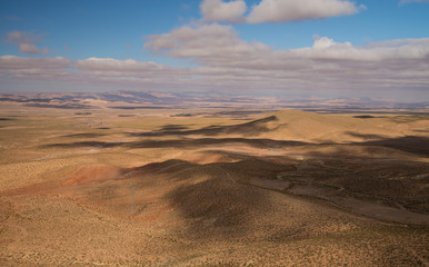 Scenic moroccan landscape in Africa