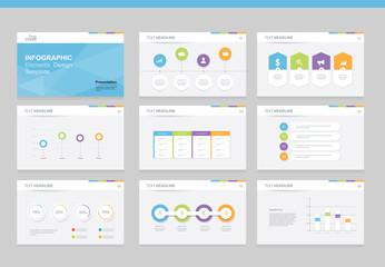 flat vector  set infographics element design template. for business  presentation template , brochure, and web design