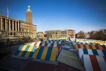 Norwich covered market and city council building