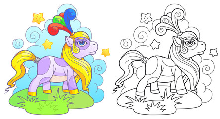 cartoon little cute pony