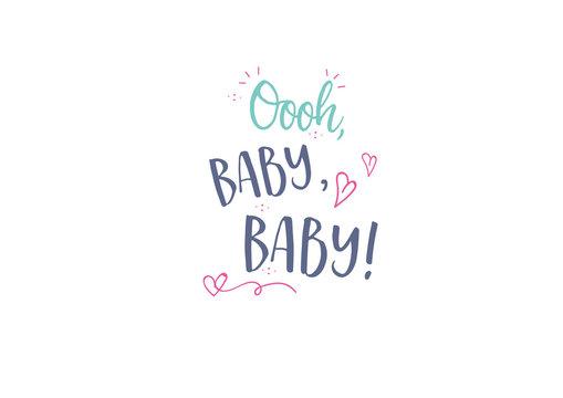 Baby Birth Card Modern Lettering Design
