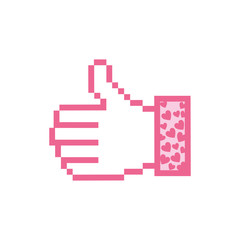 pink all good hand icon, vector illustraction design