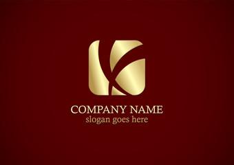 square gold letter x logo