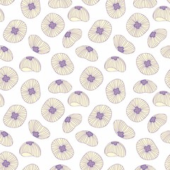 Jellyfish. Vector seamless background for design