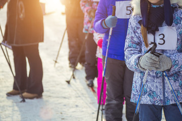 Children's ski competition