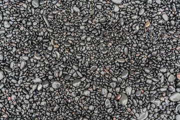 Black Volcanic Stone Beach