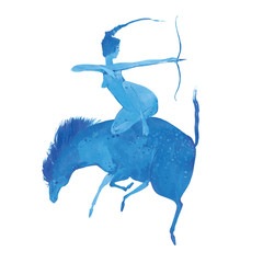Amazon woman on horseback.