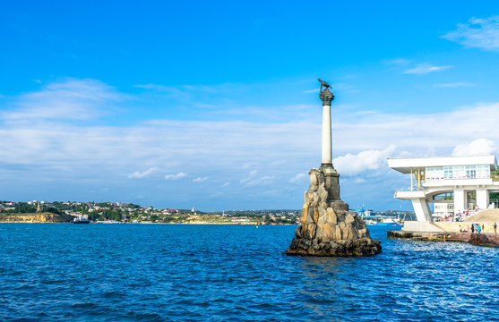 Monument to the Scuttled Ships in Sevastopol in Russia