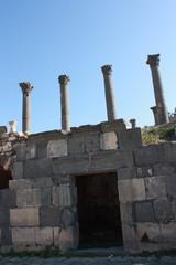 Greek Roman city Gadara Umm Qais in Jordan Middle East