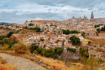 Aluminium Prints European Famous Place Toledo. Aerial view of the city.