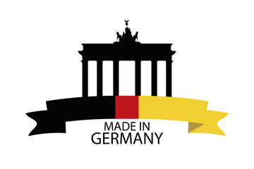 Made in Germany banner, vector