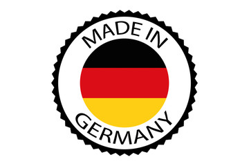 Made in Germany round logo, vector