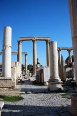 Ruins of the ancient city of Jerash in Jordan, Middle East