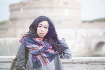 Beautiful Woman In Rome