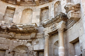 Nymphaeum in Gerasa Jerash in Jordan, Middle East