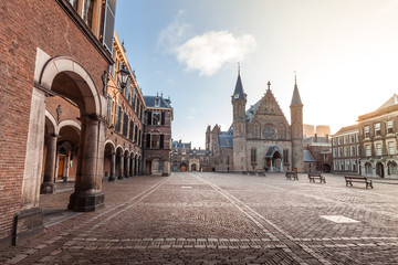 Ridderzaal, great hall of The Hague part of Binnenhof palace area, popular tourist attraction, Hague (Den Haag), The Netherlands