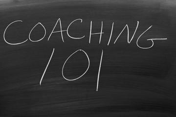 """The words """"Coaching 101"""" on a blackboard in chalk"""