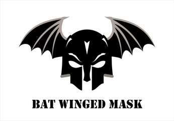 mask, Bat winged mask. skull