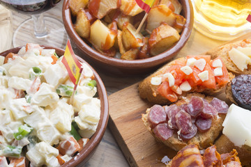 Tapas typical food in Spain